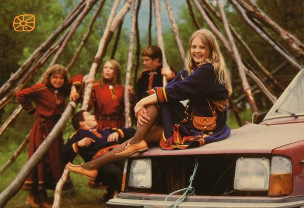 Fire ungdommer i Lyngenkofte.