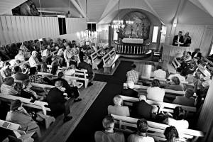 Forsamling i bedehuset i Skibotn.