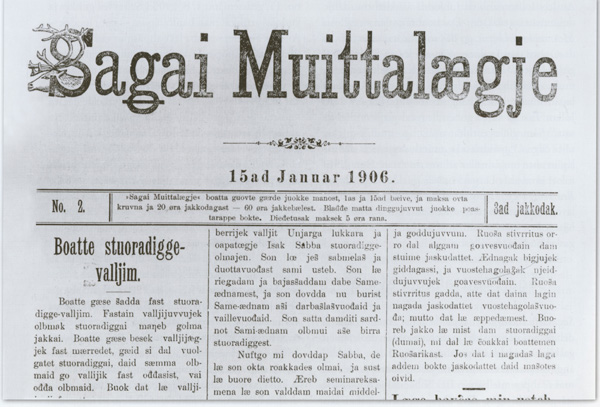 Avisforsiden Sagai Muittalægje.