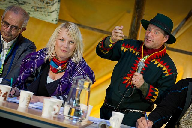 Fra seminar på Riddu 2011. Foto. Ørjan Bertelsen.