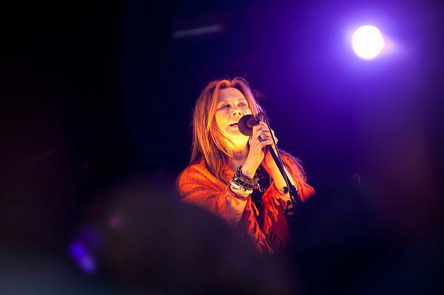 Mari Boine på Riddu scenen 2010. Foto: Marius Fiskum.