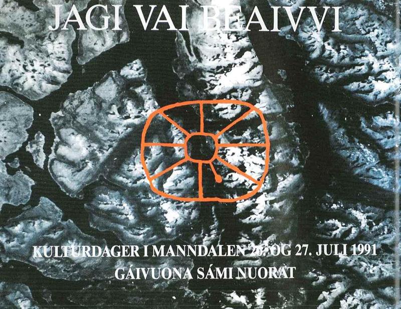 Plakat fra første Riddu 1991.