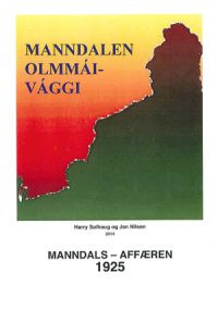 Forside boka om Manndals-affæren.
