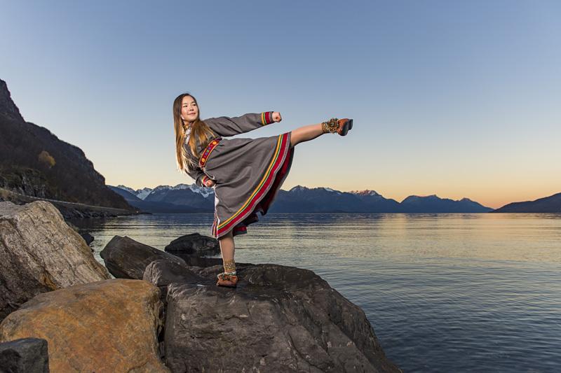 Sajane Olsen i Lyngenkofte. Foto: Ørjan Bertelsen.