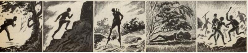 Illustrasjon til artikkelen Løperfenomenter fra Norge – Mensen Ernst, Vi menn 1973.
