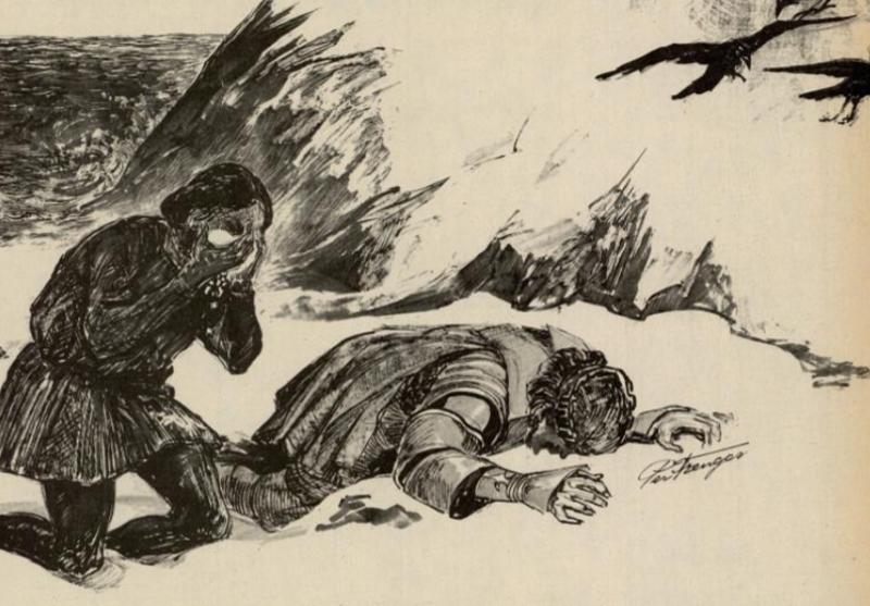 Illustrasjon til artikkelen Kystens tragedier 6 – Stranding nær verdens ende, Vi menn