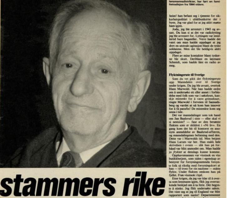 Avisutklipp. Lensmann i tre satmmers rike, av Idar Kristiansen 1975.