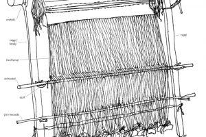Grenevev. Tegning av Kjellaug Isaken.