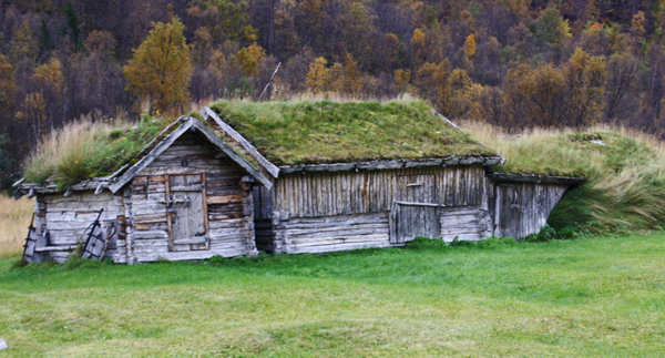 Fjøs, fjøsgamme. Holmenes sjøsamiske gård. Foto: Torun Olsen.