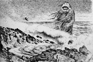Eventyrtegneren Theodor Kittelsens Sjøtrollet fra 1887 viser en skapning som har flere fellestrekk med det druknede gjenferdet draugen.