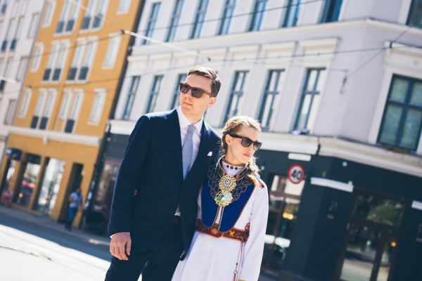 Bryllupsbilde av Tim Wendelboe og Cecilie Lindvall Wendelboe. Foto: Thomas Leikvoll.