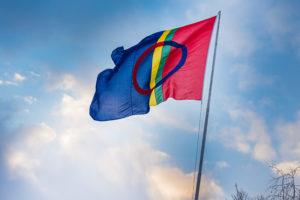 Det samiske flagget. Foto: Ørjan Bertelsen