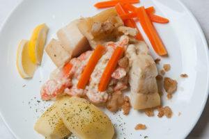 Boknafisk kokt fisk